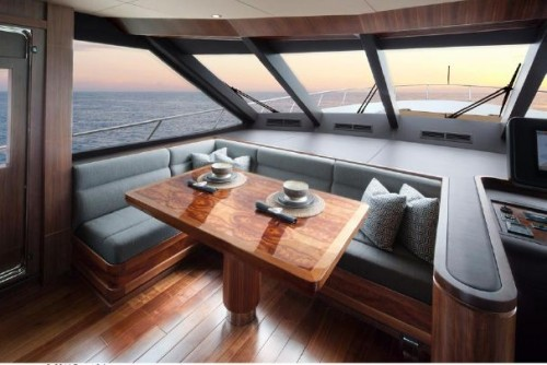 Ocean Alexander 90 Dinette Helm - Photo Credit Forest Johnson