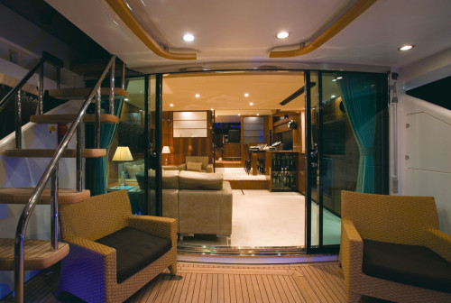 Fairline Squadron 78 Looking Forward on Main Deck