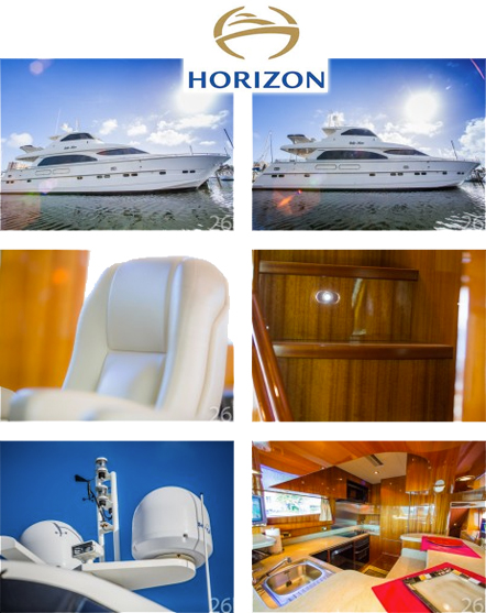 Horizon 78 photo collage - 26 north yachts