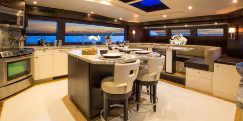 Hatteras 100 RPH Galley Country Kitchen