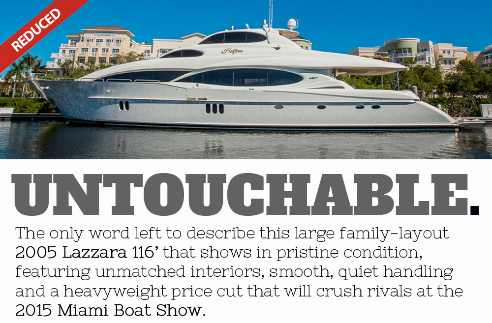 Lazzara 116 at Miami Boat Show