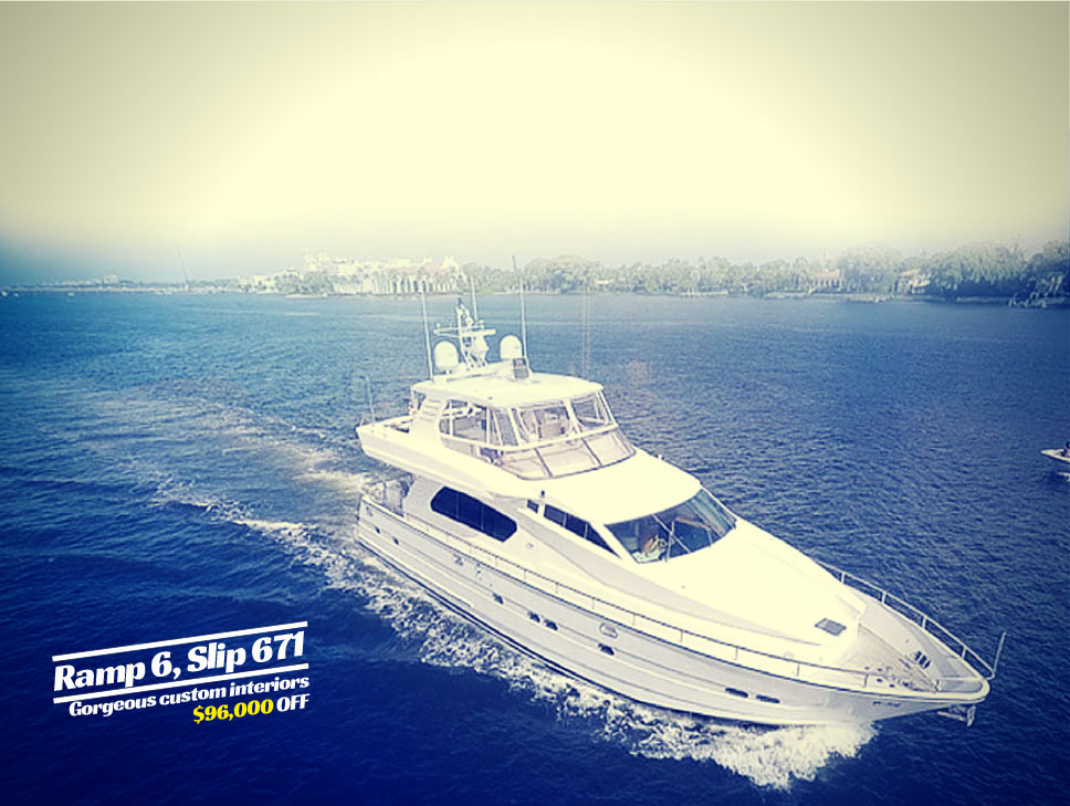 Horizon 70 For Sale At Palm Beach Boat Show