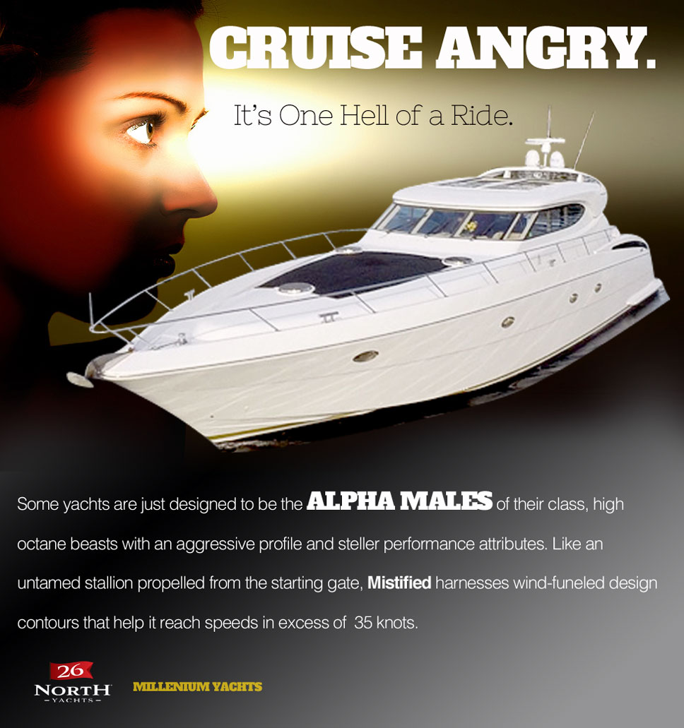 Cruise Angry on Millennium 75