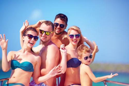 Bigstock- 65814155 - Group Of Happy Friends, Family Having Fun On Yacht, During Summer Vacation