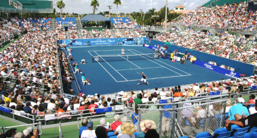 Match Point at Delray Beach Tennis Tournament