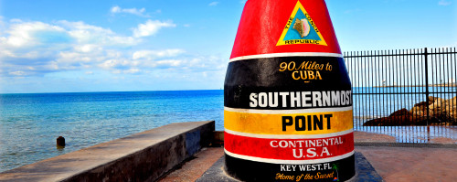 florida keys and key west southernmost point marker 90 miles to cuba