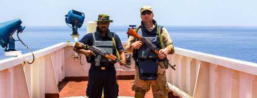 Armed Guards On Yacht