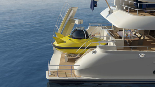 Yacht with Private Submarine