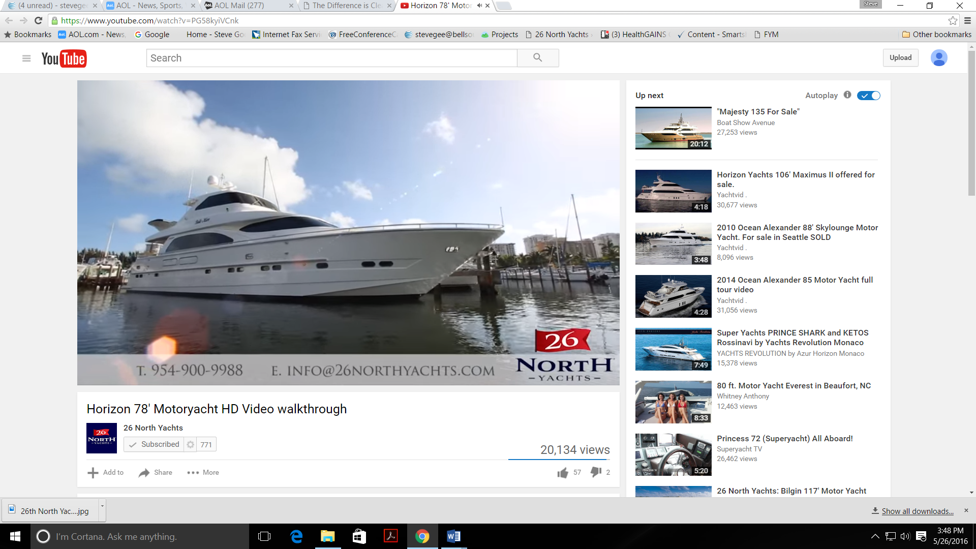 26 North Yachts on YouTube