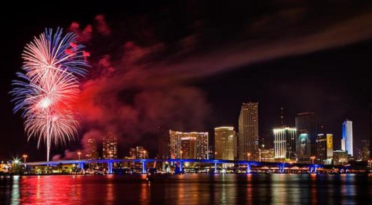 Miami Beach Fireworks Display