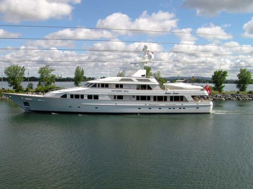 Motor Yacht on Great Lakes