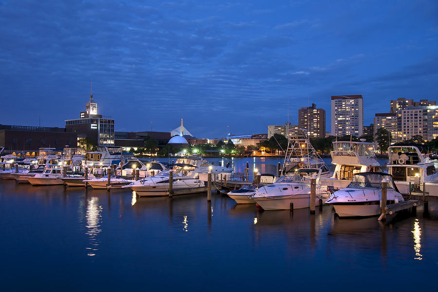 motor yacht and city