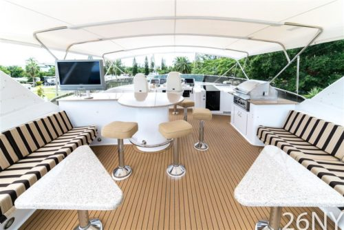 Deck of Hatteras 75 for Sale