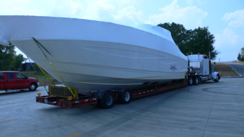 Transport yacht by Truck