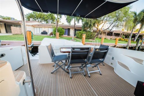 Aft Deck of Sea Ray yacht for sale